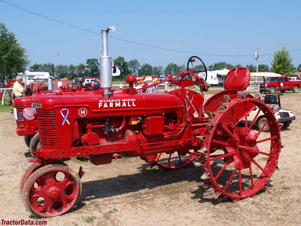 Farmall H on steel, left side.