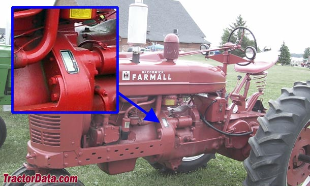 Farmall M serial number location