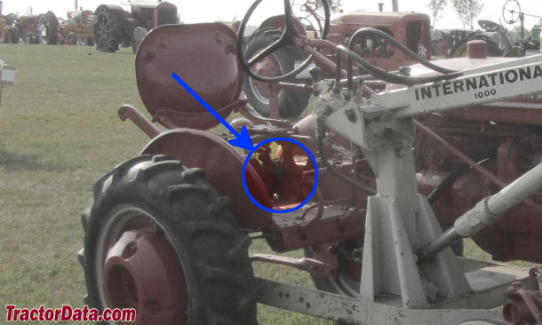 Farmall Super A serial number location