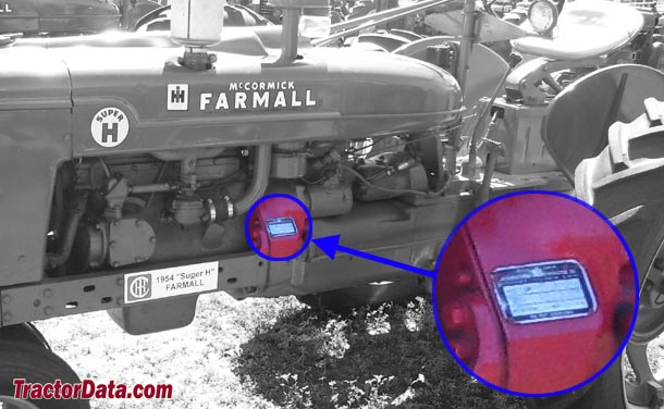 Farmall Super H serial number location