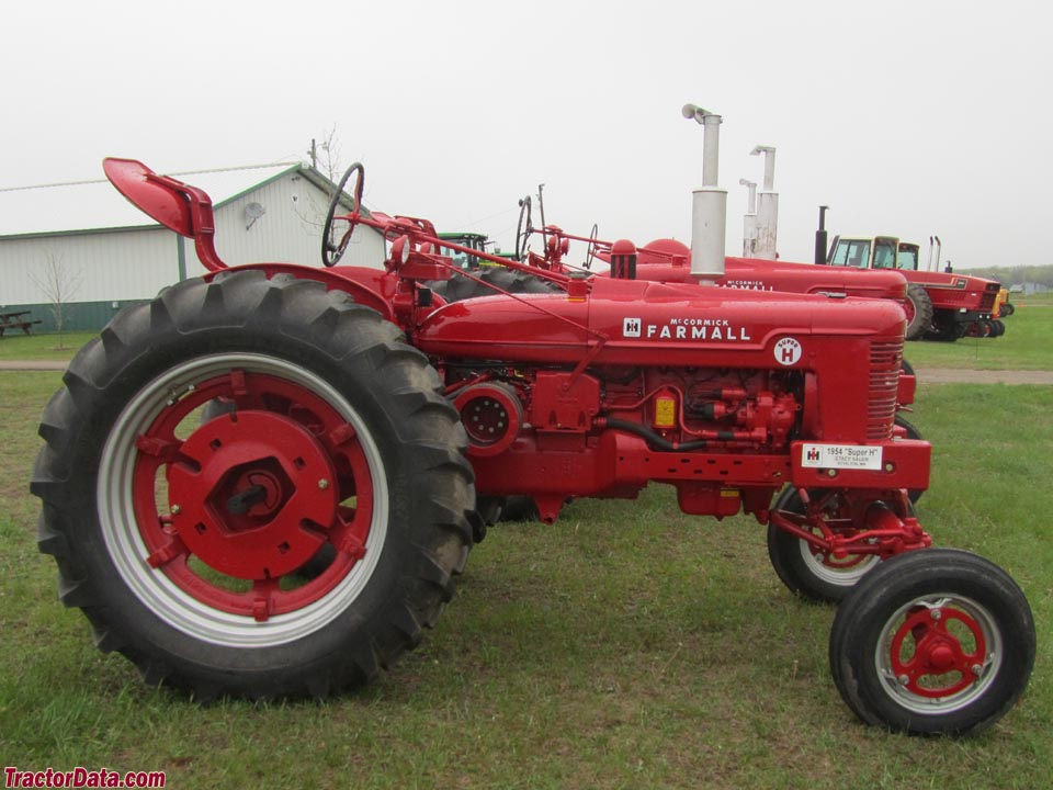 Farmall Super H with wide front end.