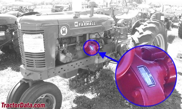 Farmall Super M serial number location