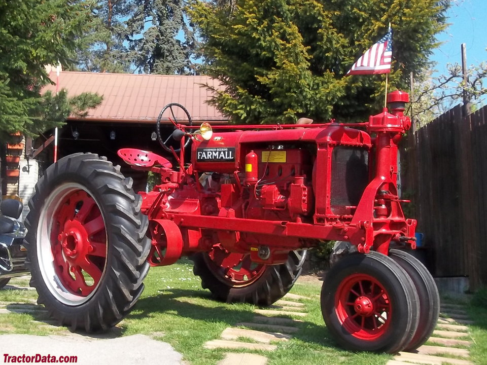 Farmall F-20 on rubber tires.