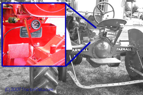 Farmall F-20 serial number location