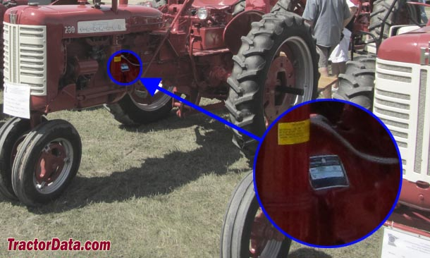 Farmall 230 serial number location