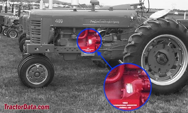Farmall 400 serial number location