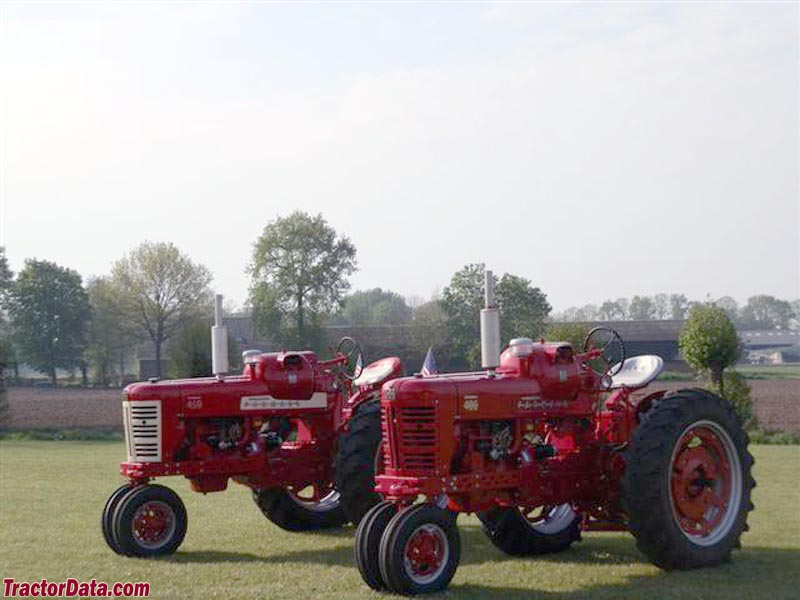 Farmall 400 and 450 with LP gas engines.