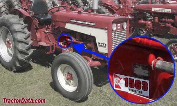 International Harvester 424 serial number location