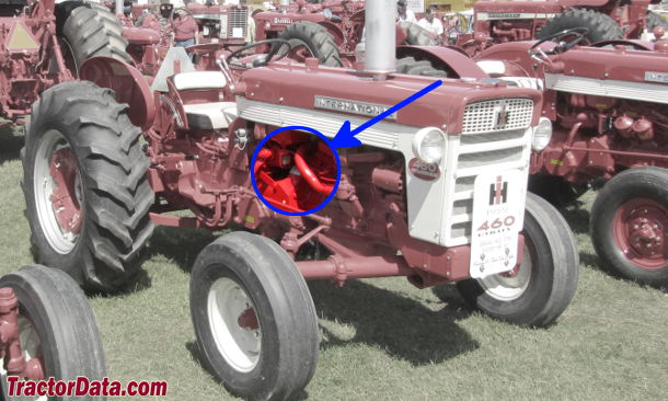 International Harvester 460 serial number location