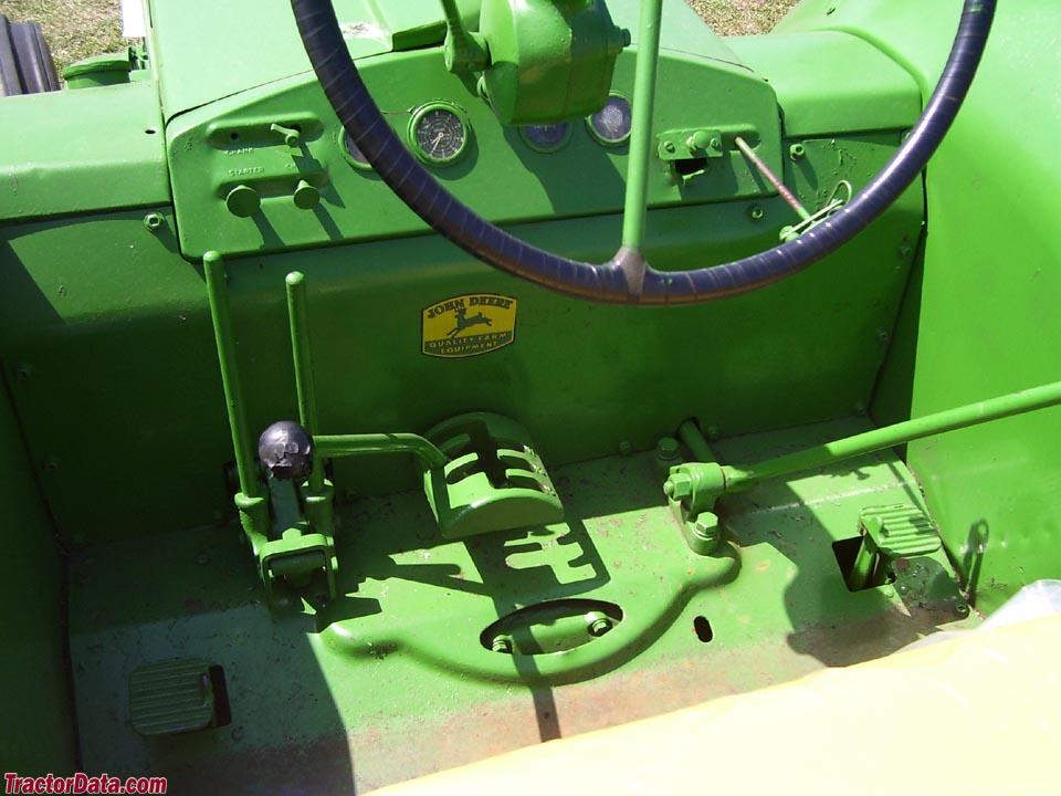 John Deere R operator station and controls.