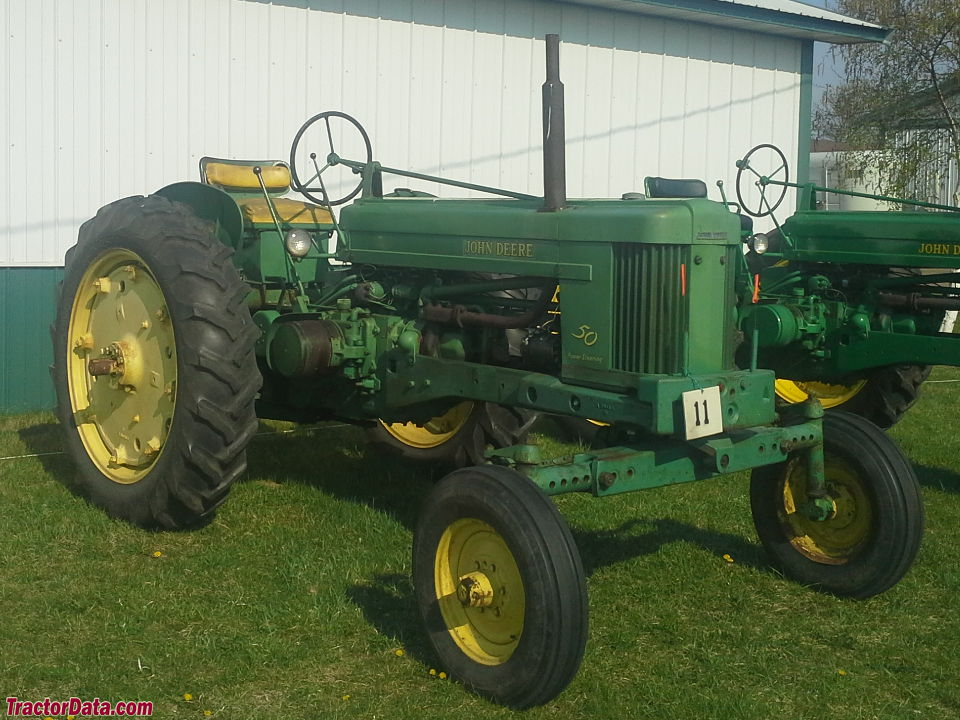John Deere 50 with wide front end.