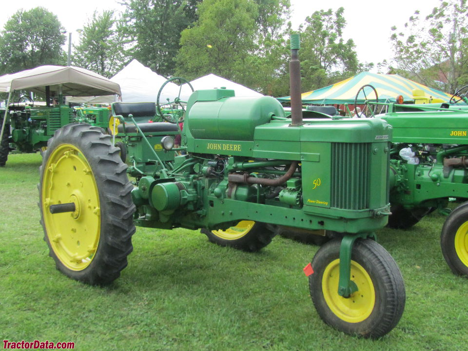 John Deere 50 with LP-gas engine.