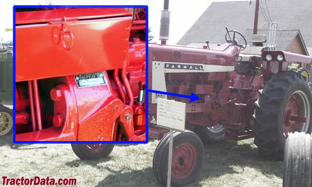 International Harvester 706 serial number location