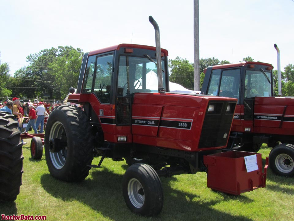 International Harvester 3688 with two-wheel drive.