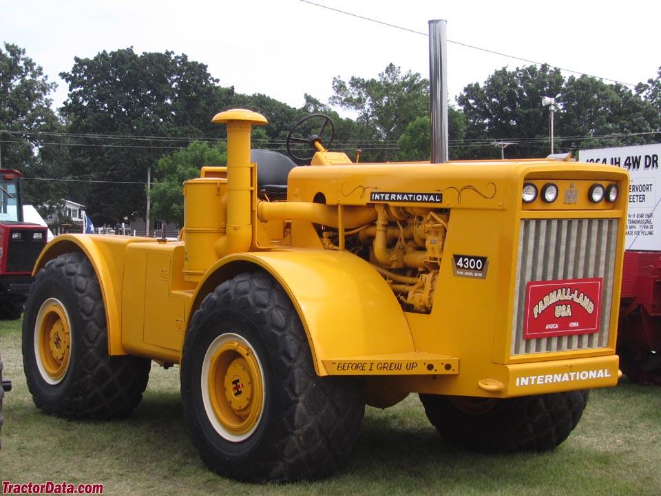 International 4300 Tractor : Tractordata international harvester tractor