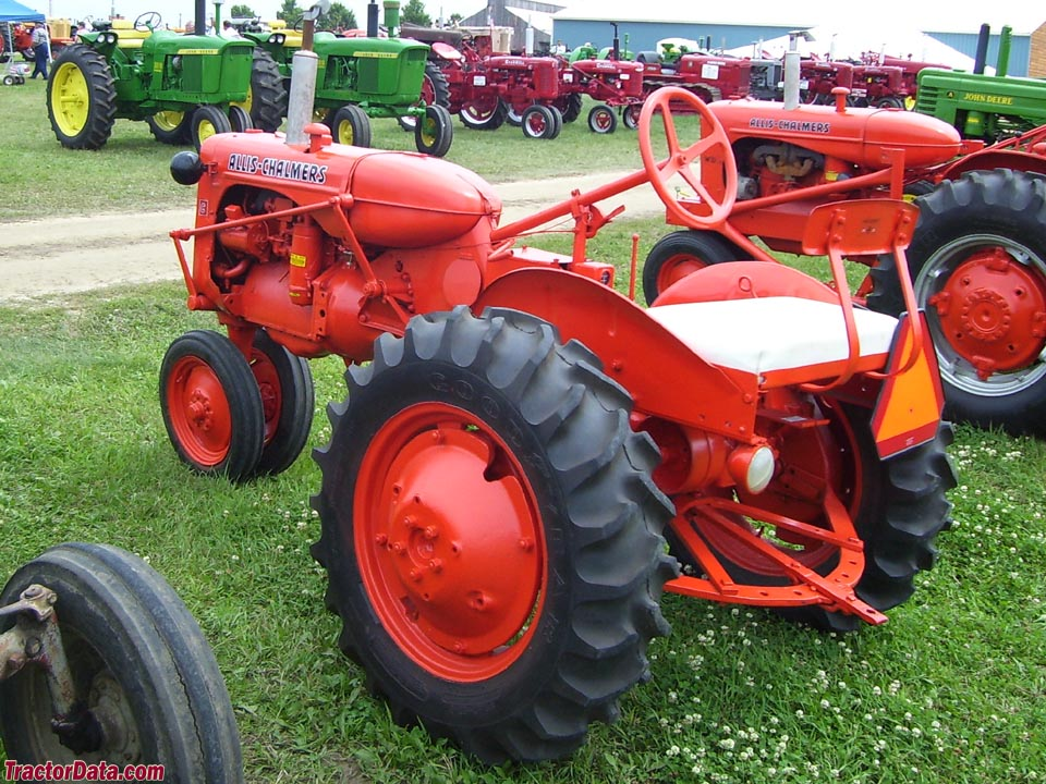 Allis-Chlamers C, rear view.