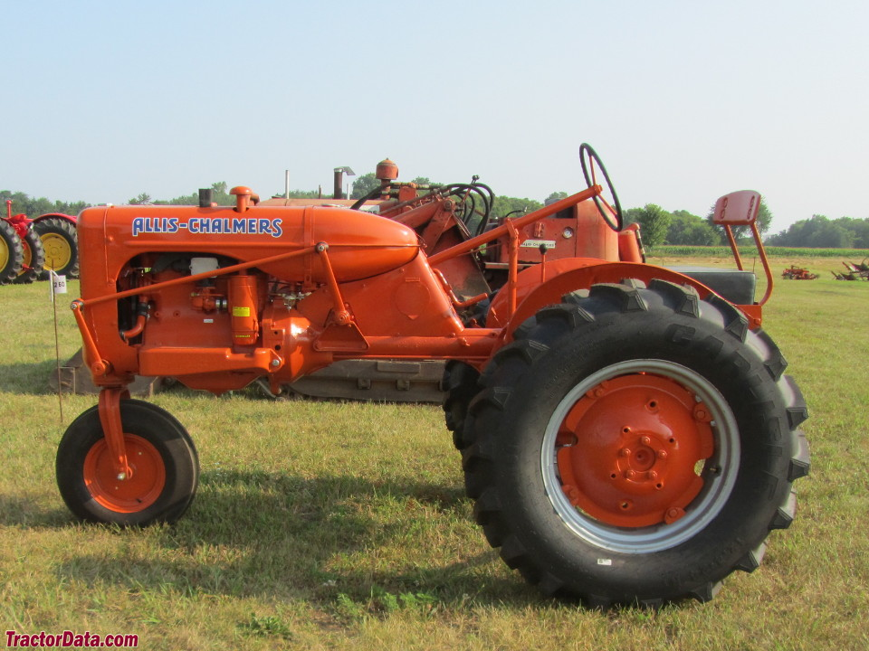 Allis-Chalmers C with single front wheel.