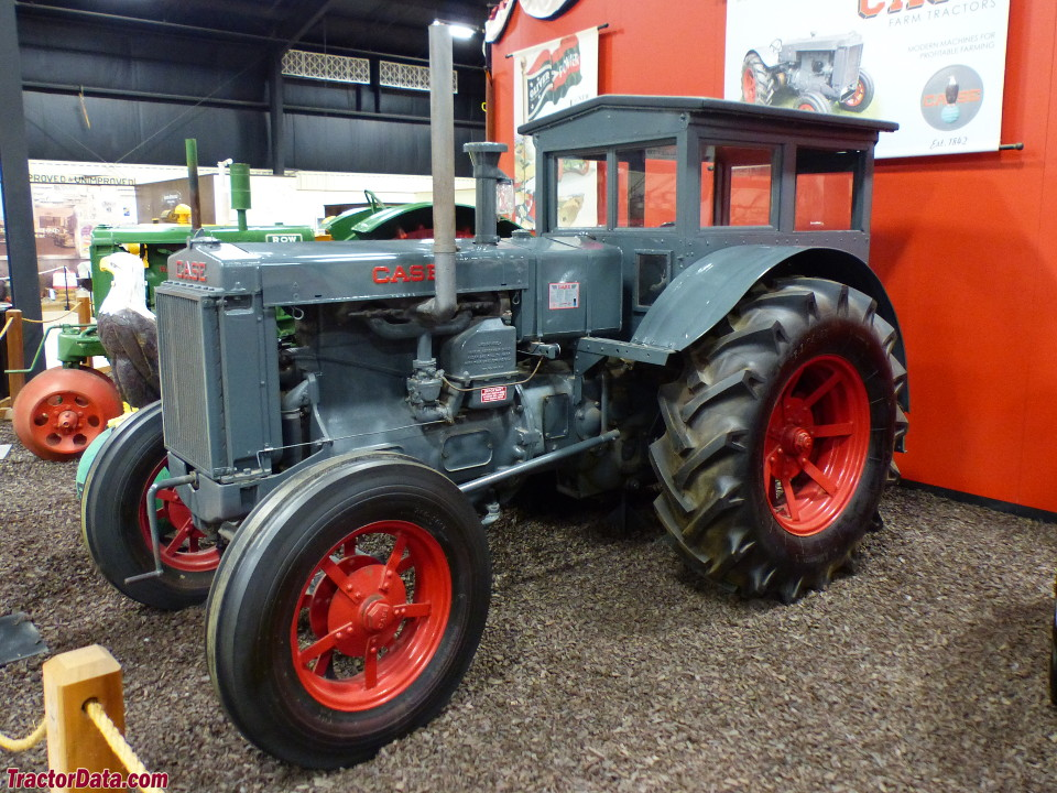 1934 J.I. Case L with factory cab. Restored by Alton and Nila Brazell and donated to the Bayer Museum of Agriculture.