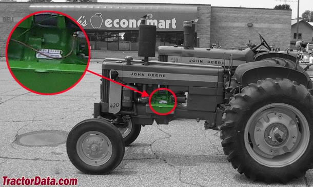 John Deere 420 serial number location