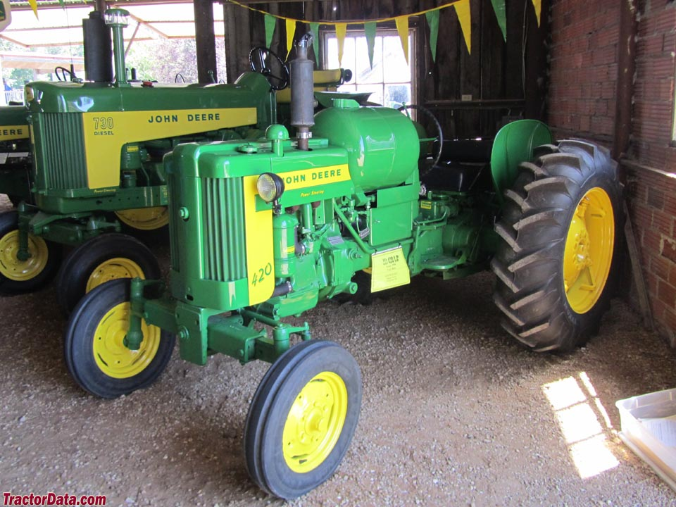 John Deere 420 with LP gas engine