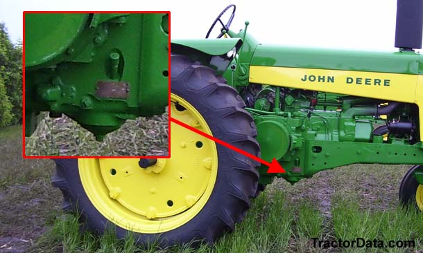 John Deere 730 serial number location