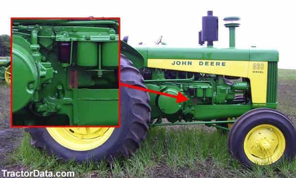 tractordata com john deere 830 tractor information John Deere 820 3 Cylinder Wiring Diagram photo of 830 serial number John Deere Ignition Wiring Diagram