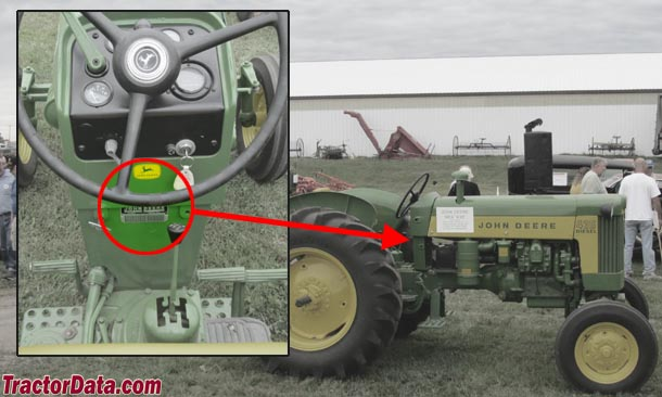 John Deere 435 serial number location