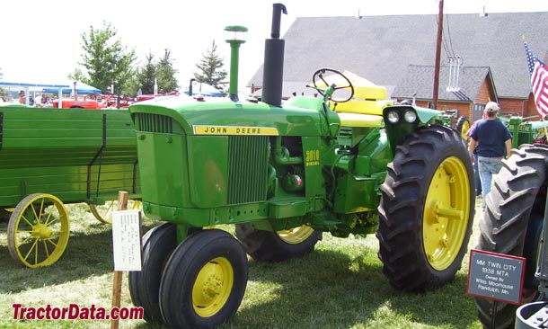 Left-front quarter view of the Deere 3010
