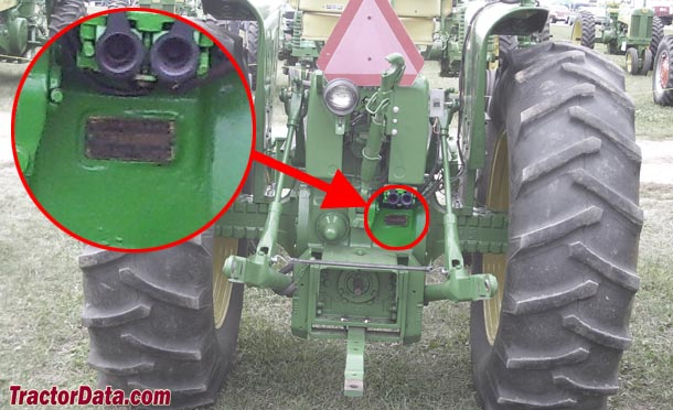 John Deere 4010 serial number location