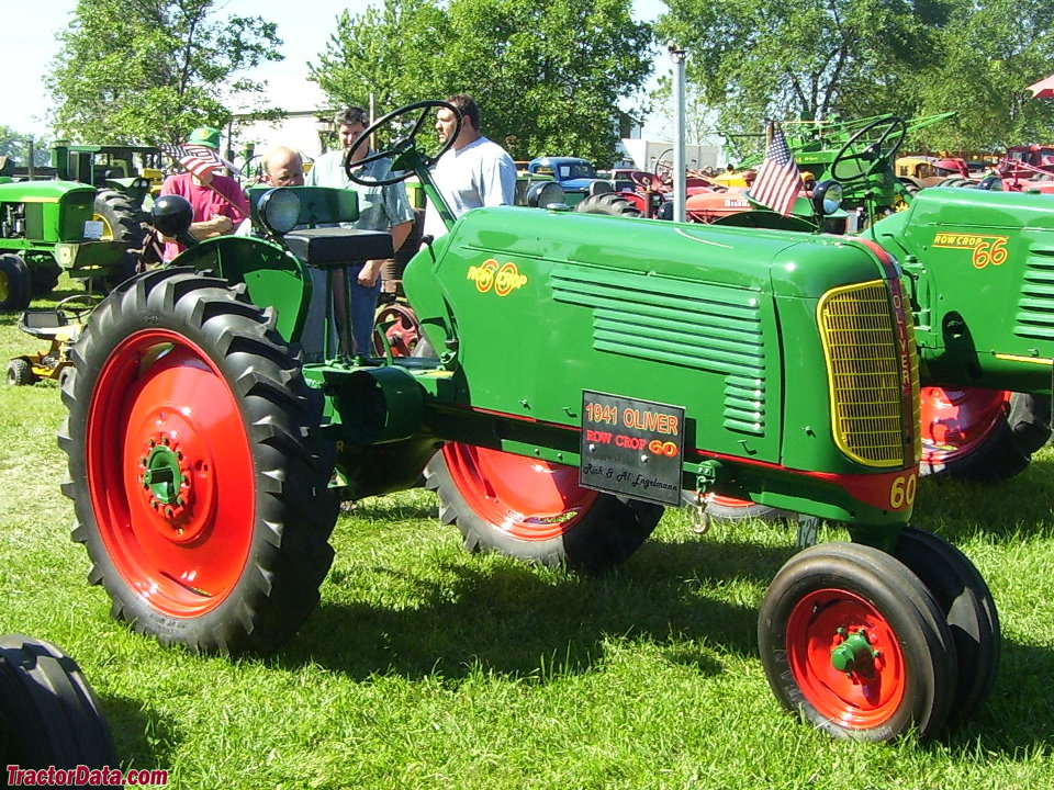 Oliver 60 row-crop tractor, left side.