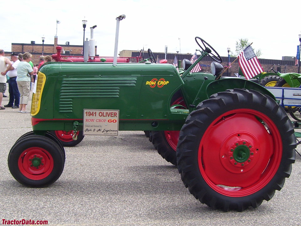 Oliver 60 row-crop tractor, right side.