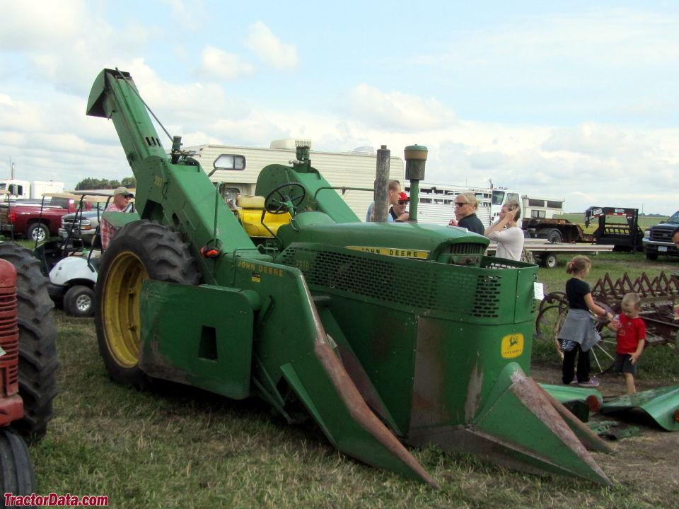 John Deere 2510 with mounted 237 corn picker.