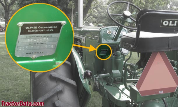tractordata oliver 660 tractor information 1960s Oliver Tractor photo of 660 serial number