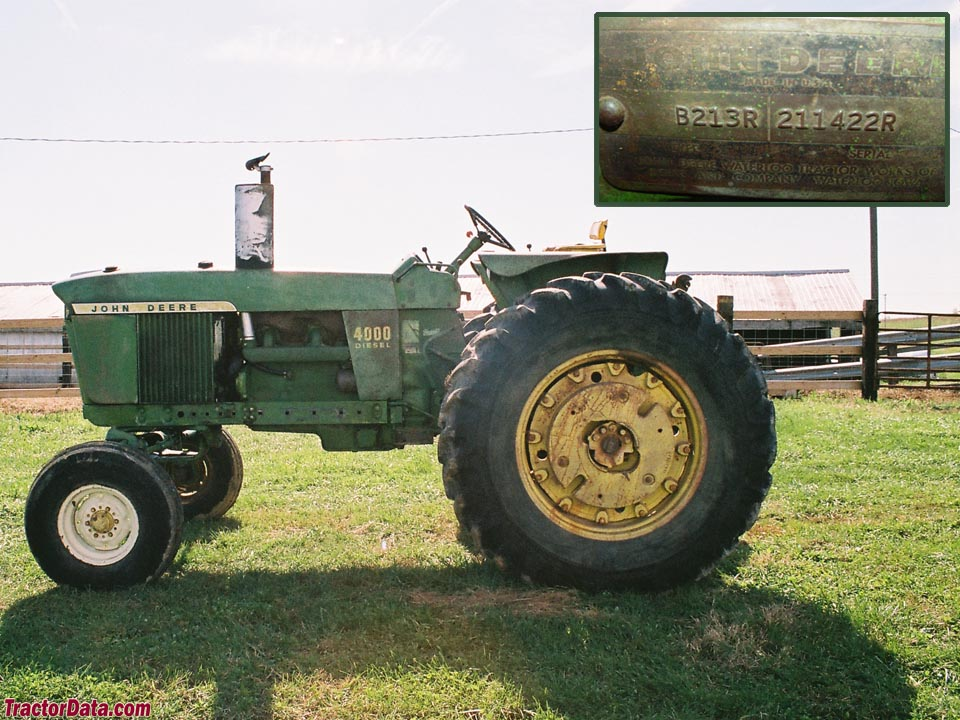 The first John Deere 4000 tractor