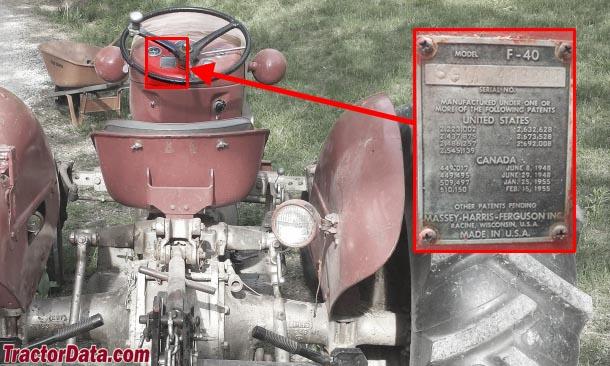 1956 Massey Ferguson 40 Tractor : Tractordata massey ferguson f tractor information