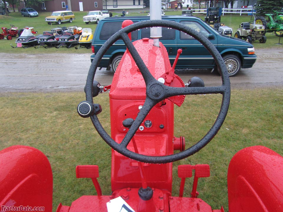 Massey-Harris 81 operator station and controls.