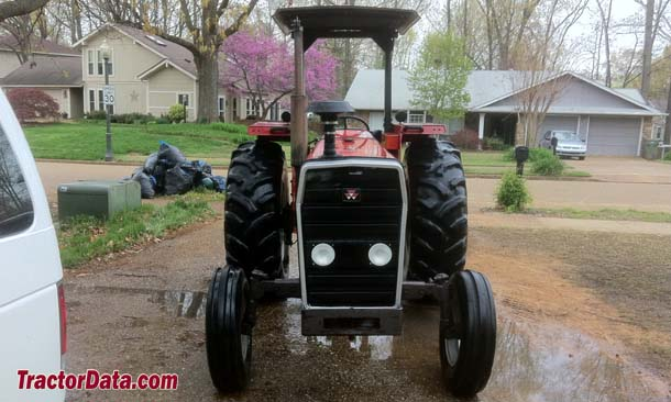 Front view of the Massey Ferguson 283