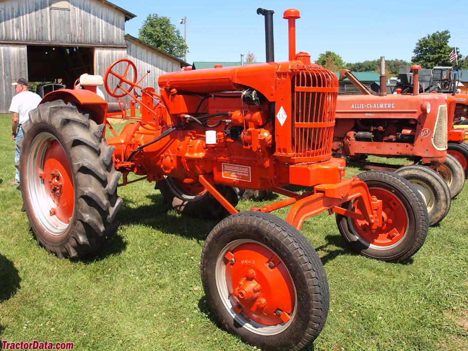 Allis-Chalmers UC with high-clearance axle.