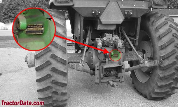 John Deere 4230 serial number location