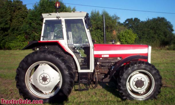 Massey Ferguson 399 with cab and four-wheel drive.