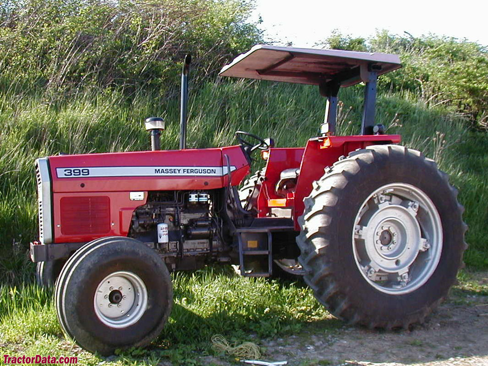 Massey-Ferguson 399 with two-wheel drive and ROPS.