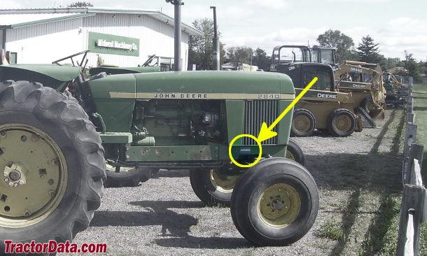John Deere 2840 serial number location