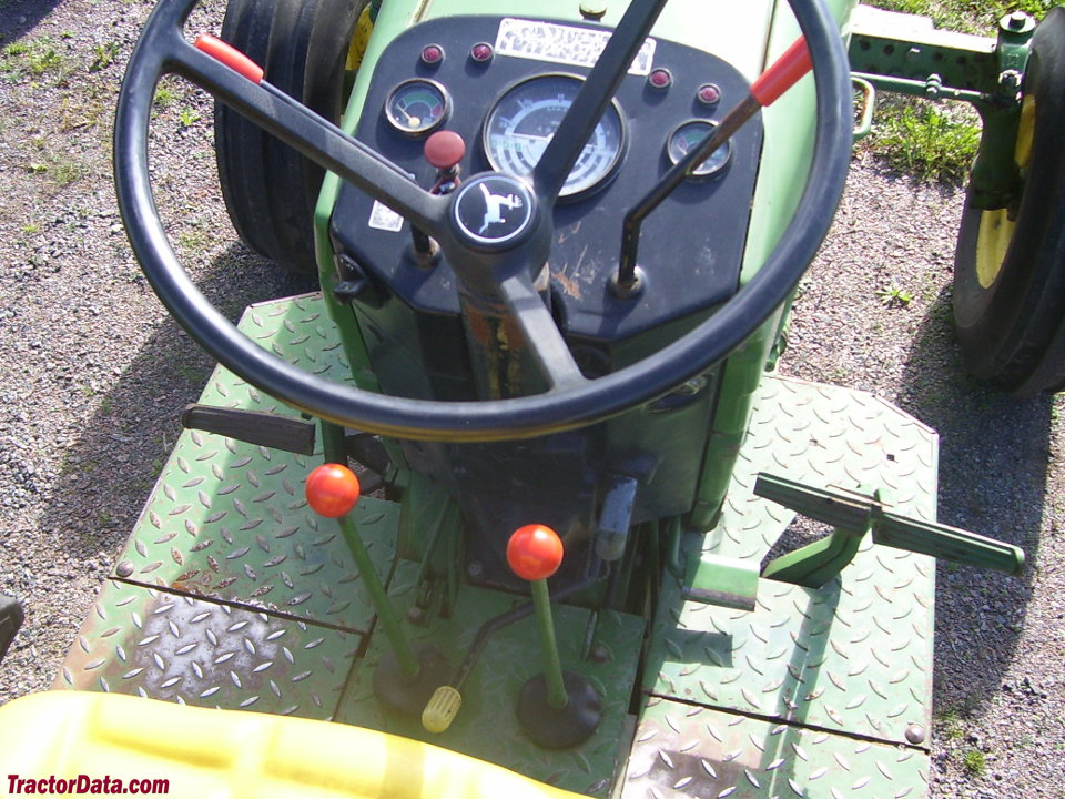 John Deere 2840 operator station and controls.