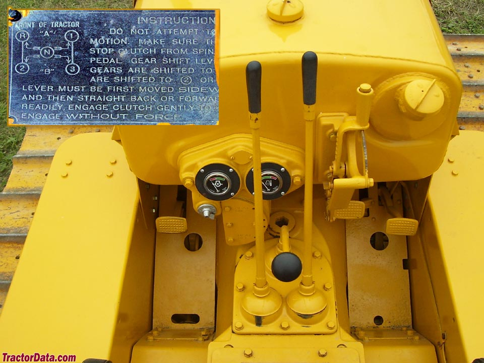 Caterpillar Twenty-Two operator station and controls.