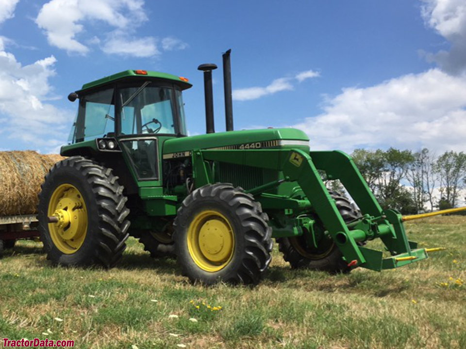John Deere 4440 with model 48 front-end loader.