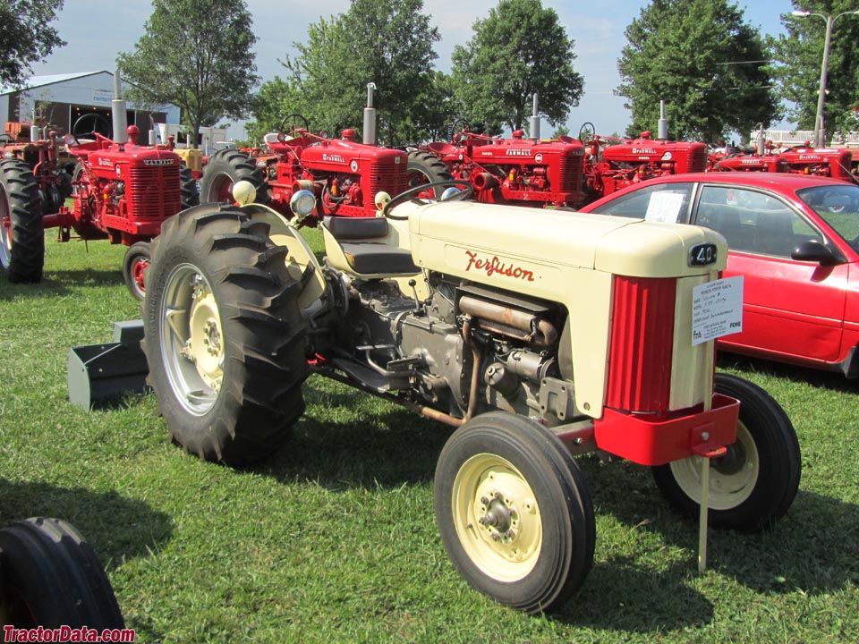 Ferguson 40 Tractor : Tractordata ferguson f tractor photos information