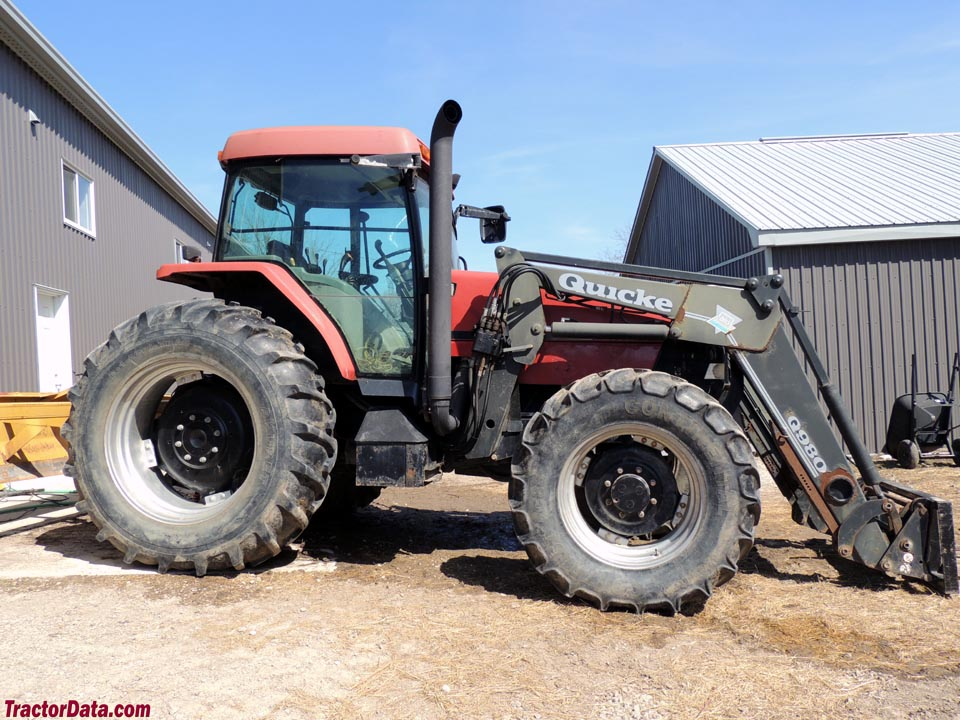 Case IH Maxxum MX120 with loader, right side.