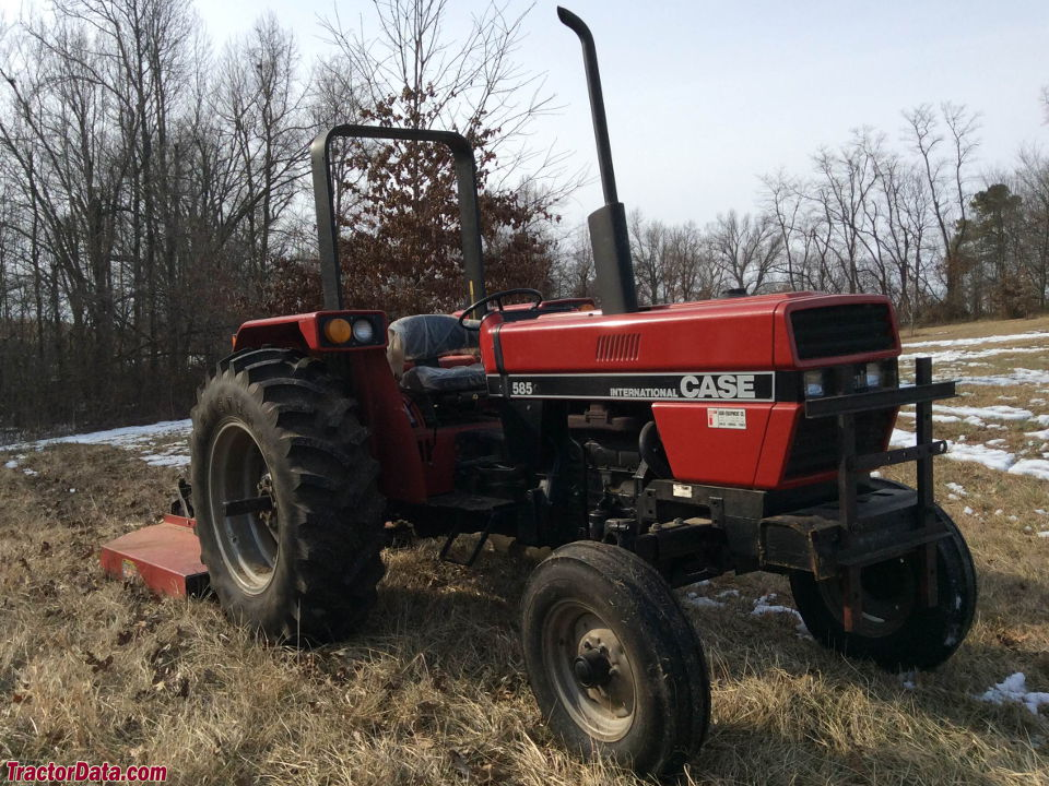 Two-wheel drive Case IH 585 with ROPS.