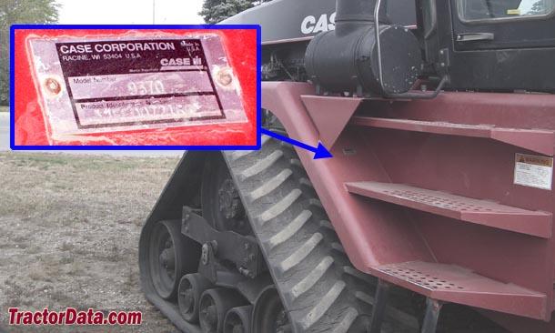 CaseIH Quadtrac 9380QT serial number location