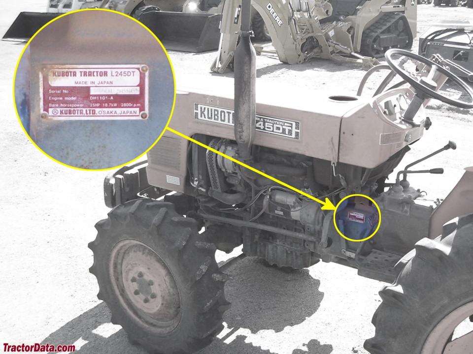 TractorData com Kubota L245 tractor information